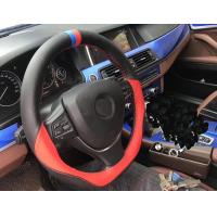 Leather DIY Hand Sewing Steering Wheel Cover With Needle And Thread