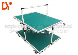 China Lean Pipe Tote Cart Turnover Trolley Glossy Surface Corrosion Resistance on sale