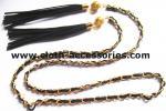 Franje las correas de cadena del oro para las señoras/la correa de cintura flaca del suéter durable