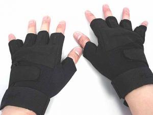 China Half  Finger Tactical Gloves,Fabric: Microfiber + Nylon,Size:M,L,XL on sale