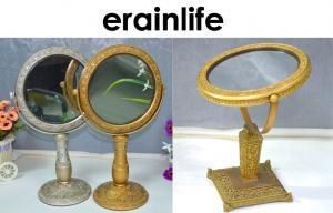 China Желтое домашнее украшая зеркало вспомогательного оборудования косметическое для ресторана/кофейни on sale