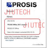 Volvo Construction PROSIS 2012 EPC & Repair PARTS CATALOG, MANUALS, DIAGRAMS