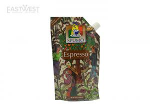 China Resusable Liquid Stand Up Pouch , Drink Pouch Bags Espresso / Yogurt / Sauces Packaging on sale