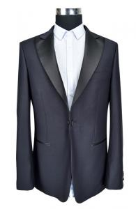 China Trendy High Class Mens Slim Fit Suit Blazer Black Business Wedding Person on sale