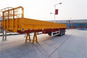 China 3 axle 40 cargo trailer wall panels semi flatbed trailers - CIMC on sale