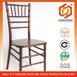 China Strong Wedding Event Golden Solid Wooden Chiavari Banquet Chair on sale