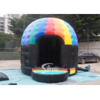 Kids N adults music party disco dome bounce house with light hook made of best pvc tarpaulin