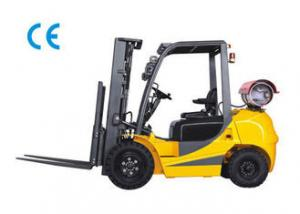 China Dual Fuel Four Wheel Gasoline LPG Forklift 3000kg Capacity With Engine Protection Lock on sale