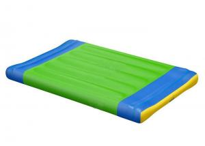 China Blue & Green Inflatable Water Park Base Start Line Floating Island For Sport Games on sale