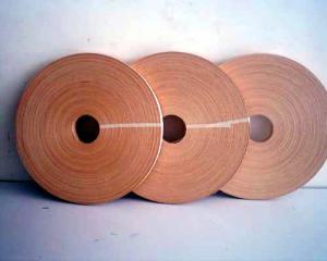 China Veneer Edge Tape Finger Joint Veneer Fleece Backed Edging Edgebanding Veneer Thick Edge Banding for Furniture Doors on sale