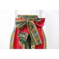 China Dashiki Style Womens African Print Skirts With Two Side Pockets Zipper Back on sale