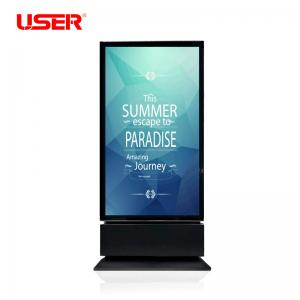 China 65 inch Floor Standing dual LCD Display totem, double sided Digital Signage for indoor on sale