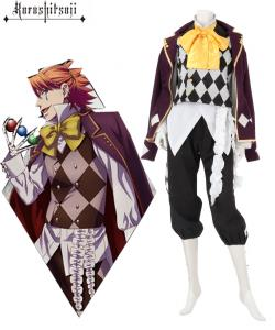 China Anime Costumes Wholesale Black Butler Kuroshitsuji Noah's Ark Circus Joker Anime Cosplay Costume on sale