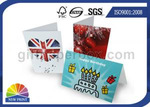 China Custom Festival Greeting Cards Printing Service for Birthday Cards with Art Paper on sale