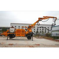 Diesel Robotic Shotcrete Machine Wireless Remote Control Rotate 360 Degree PLC Mode