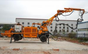 China Diesel Robotic Shotcrete Machine Wireless Remote Control Rotate 360 Degree PLC Mode on sale