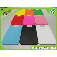 China Silkscreen Printing Silicone Credit Card Holder Recycled 3M Glue on sale