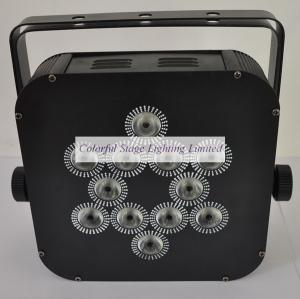 China 12X10W 4 in 1 Battery Powered and Wireless DMX LED Flat Par Can on sale