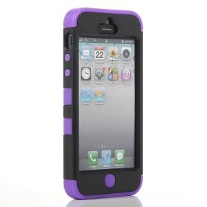China Tuff Rugged Hybrid Case For Iphone 5th 5G Back Case Trips Layers on sale