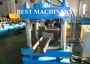 China Upright Shelf Frame Storage Rack Roll Forming Machine Profile Type on sale