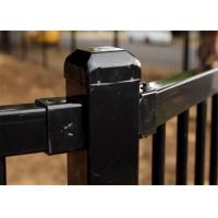 China Customized Powder Coating Steel Fence and Steel Gate Designs on sale