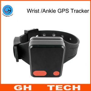 China Wrist / Ankle Mini GPS Tracker Wristband Cut-Off Alarm For Alzheimer Prisoner Parolee Tracking on sale