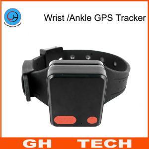 China Wrist / Ankle Mini GPS Tracker Wristband Cut-Off Alarm For Alzheimer Prisoner Parolee Tracking on sale