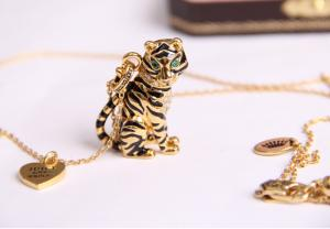 China Fashion brand jewelry Juicy Couture necklaces pendant tiger women necklaces wholesale on sale