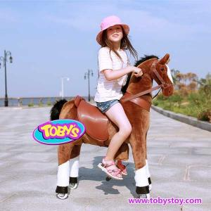 China Tobys plush  riding  horse toy Pony Cycle on sale