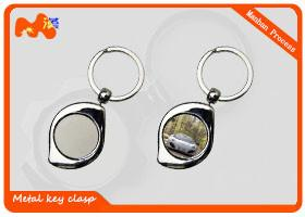 China Delicate Style Sublimation Keychain Blanks With Black And Smooth Back on sale