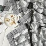 Hedgehog Printed Infant Muslin Blankets Soft Plain Style Large Blankets For Summer