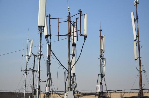 Multi - System Cell Phone Base Station Mobile Tower