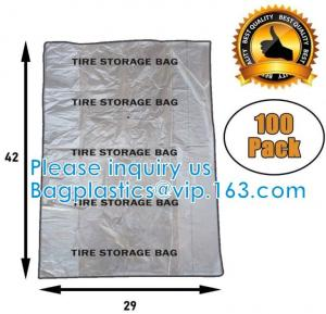 China Heavy Duty PE Plastic 1.1 Mil Car Wheel Storage Bags on sale