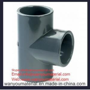 China Sell High Quality PVC Pipe Fitting-PVC Plain Tee info@wanyoumaterial.com on sale