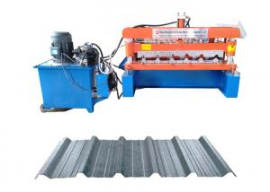 China IBR Trapezoidal Profile Metal Tile Roofing Sheet Roll Forming Making Machine on sale