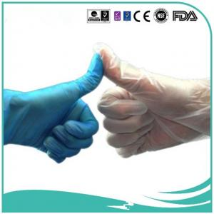 China Disposable vinyl gloves PVC gloves food grade/medical grad/industry grade clear/blue/yellow/white/red/green on sale