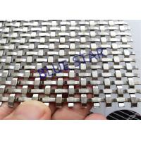Custom Decorative Metal Screen Mesh , Decorative Woven Wire Mesh For Cabinet Doors