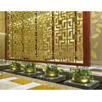 Bronze Cooper  Metal Laser Cut Panels Color stainless steel room dividers For Hotels Villa Lobby Decoration 304 316