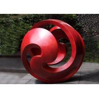 China Public Red Stainless Steel Sphere Sculpture / Large Metal Art Sculptures on sale
