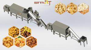 China SS Food Extrusion Equipment Custom Voltage Puff Snacks Extruder Machine on sale