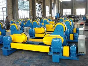China Wireless Control Welding Pipe Stands with Rollers, Self Adjustment 80T Heavy Duty Pipe Stands on sale
