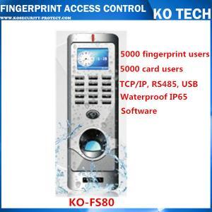 China KO-FS80 Metal Case Fingerprint Reader Standalone Entry Access Control on sale