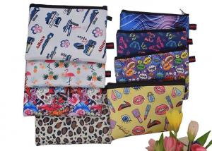 China Iridescent Unicorn Zippered Cosmetic Bag Sublimation Printing Neoprene Material on sale