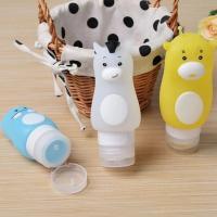 China Sets of Cartoon Split Charging Silicone Travel Bottle Cosmetics Storage on sale