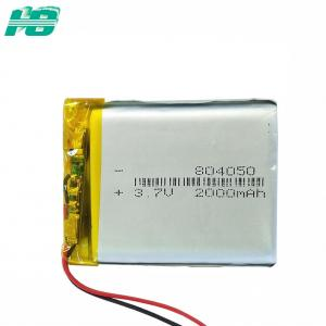 China Ternary 3.7 V 2000mah Rechargeable Battery Customized Size And Capacity on sale