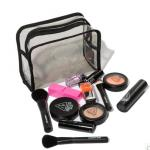 Light Weight PVC Cosmetic Bag , Fashion Makeup Plastic Cosmetic Bags With Ziplock