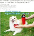 Low Price Guaranteed Quality Portable Feeding Dog Travel Water Bottle,Dog Dispenser,Puppy Bottle, bagplastics, bagease