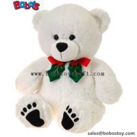 "11""White Xmas Soft Plush Teddy Bear Christmas Toy"