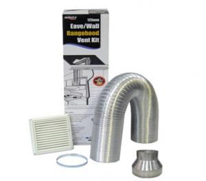 China Defelcto Home Decor venting kit DIY rangehood air distribution set Semi Rigid Wall/Eave Venting Kit on sale
