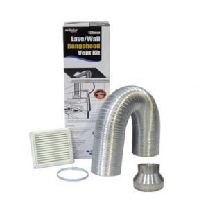 China Defelcto Home Decor venting kit DIY rangehood air distribution set Semi Rigid Wall/Eave Venting Kit on sale